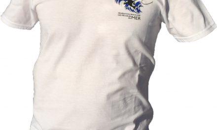 T-Shirt FFPM blanc col en V
