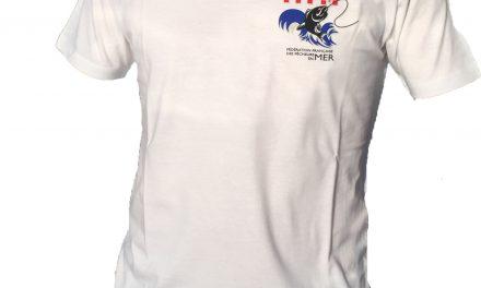 T-Shirt FFPM blanc col rond
