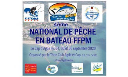 4 ème NATIONAL FFPM BATEAU DU 04 AU 06 SEPTEMBRE 2020