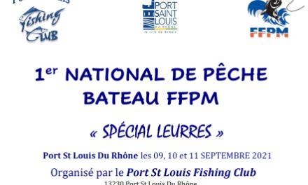 1er NATIONAL BATEAU PÊCHE aux LEURRES 2021 – PORT SAINT-LOUIS